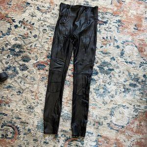 Spanx Faux-Leather Moto Legging